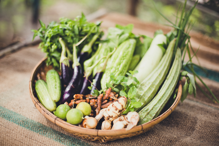 SAC's organic vegetable and rice